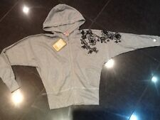 NWT Juicy Couture New & Gen. Ladies Small Grey Cotton Hoody With Lace &  Logo