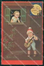 Colombo Art Deco Children Paper Moon CORNER CREASE serie 2253 postcard QT6550