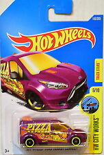 HOTWHEELS 6/10 HW CITY WORKS FORD TRANSIT CONNECT PIZZA EXPRE TRACK STAR 143/365