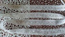10m Vintage Algodón ajuste del borde de encaje de ganchillo Blanco Cinta de Costura Manualidades Vieira Nuevo