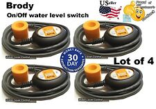 Lot of 4 pcs. Float Switch Automatic Water Level Sensor Control with10 ft.cable
