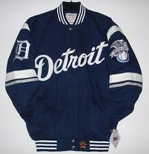 Size XL MLB Detroit Tigers Cotton Embroidered  Jacket Navy  JH Design  XL
