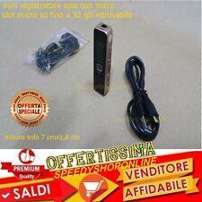 MINI REGISTRATORE DIGITALE  VOCALE TELEFONICO SPIA USB RICARICABILE