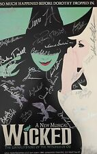 Wicked Cast SIGNED 14x22 Window Card Stephanie J. Block Kendra Adam Lambert COA