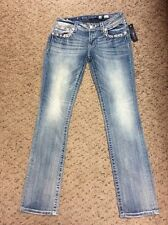 MISS ME SIZE 30/33 SIGNATURE STRAIGHT STRETCH JEAN JE8378T2