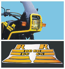 BMW R 80 GS Nero ad gialli  - adesivi/adhesives/stickers/decal