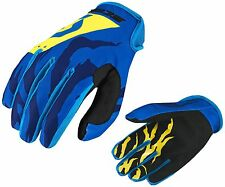 GUANTI GLOVES MOTO ENDURO CROSS MX SCOTT 350 RACE BLU YELLOW GIALLO TG M