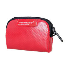 MANHATTAN PORTAGE 1008-VL WATERPROOF VINYAL COIN PURSE  MINI ACCESSORIES BAG RED