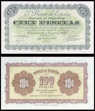 Facsimil Billete 100 pesetas agosto 1938 Barcelona - Reproduction