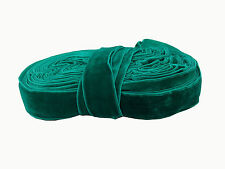 Teal Green Velvet Lace Border Trim 2.5cm wide, Saree Kurti Dress 15mtr