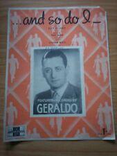 AND SO DO I - DE LANGE, MANN & WEISS; GERALDO