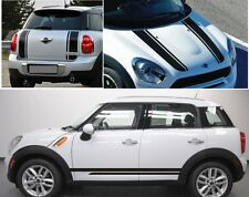 MINI COOPER CLUBMAN BONNET + BOOT + SIDE STRIPES STICKERS DECAL