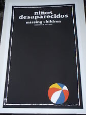 MISSING CHILDREN (of Argentina) Cuban Silkscreen Movie Poster CUBA Artist BACHS
