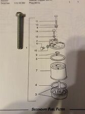 N600117-S8 - Is A New Metric Bolt for the Fuel Filter on a Long 480, 520 Tractor