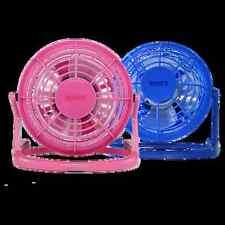 """4"""" usb alimenté ventilateur de bureau office home use angle réglable bleu rose cool neuf"""
