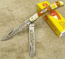Kissing Crane Folding Trapper Knife National Candy Corn Day 2016 Limited Ed.