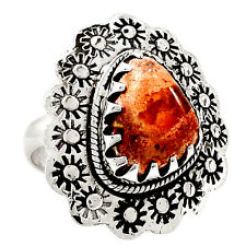 Mexican Fire Opal 925 Sterling Silver Ring Jewelry SR217467