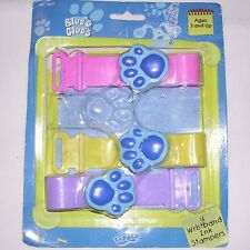 3 Blue's Clues Wirstband Ink Stampers by Tapper. Pink Yellow Purple NEW BUT OPEN