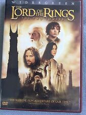 The Lord Of The Rings The Two Towers Movie Widescreen DVD  2 Disc Rated PG-13