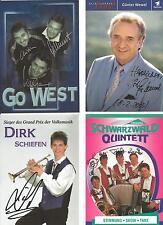 4 Autogramme Musik Lot Schwarzwald Quintett Dirk Schiefen Go West Günter Wewel