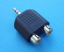 New 3.5mm Aux Male to 2 RCA Female Socket Adapter Y Splitter Connector Converter