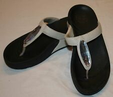 FitFlop Fit Flops 5 Style 364-194  Chada Urban White Leather Sandals Womens
