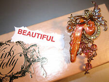 "KIRKS FOLLY VINTAGE/SIGNED ""FAIRY ON CRESCENT MOON BROOCH"" SHE IS GORGEOUS!!!"