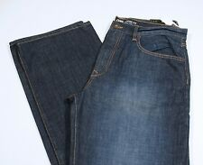 NEW MENS 36 x 32 GAP JEANS LOOSE FIT DARK BLUE DENIM 36/32 STRAIGHT LEG