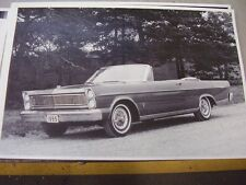 1965 FORD GALAXIE XL 500 CONVERTIBLE 12 X 18 LARGE PICTURE   PHOTO