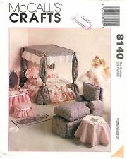 McCall's Crafts # 8140 Sewing Pattern Dollhouse Furniture Factory Folded Uncut