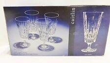 4 Godinger Caitlin Iced Tea Beverage Glasses NIB 24% Lead Crystal Slovakia