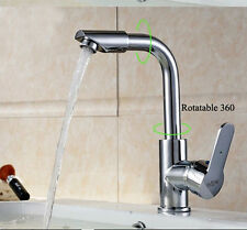 Polished Chrome Modern Bathroom Chrome Basin Sink Mixer Tap Laundry Water Faucet