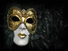PHOTO VENETIAN CARNIVAL MASK ORNATE GOLD LIPS BLACK FEATHERS POSTER BMP10068