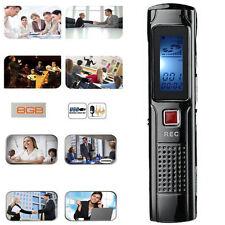 8GB Mini Digital Voice Recorder Steel Stereo Recording Audio Recorder MP3 player