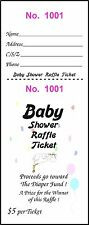 100 BABY SHOWER RAFFLE TICKETS Diaper Fund gets $500.00 Money Child Fun Party