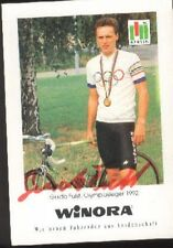 GUIDO FULST Signée WINORA cyclisme Autographe cycling OLYMPIA SIEGER 92 radsport