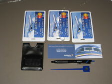 COLLECTABLE MIDWEST AIRLINES 3 LUGGAGE TAGS, DRINK STIRRER, PEN, COMMENT CARD