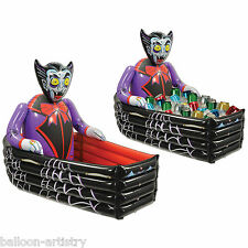 "42"" Halloween Horror Inflatable DRACULA Vampire Coffin Drinks Cooler Decoration"