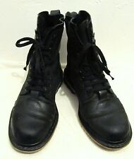 Men's Black Lace Up,GRUNGE Rocker Cap Toe COMBAT Type Boots By DR.MARTENS.10M