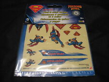 2014 Official BSA Boy Scouts SUPERMAN Pinewood Derby Stickers/Decals.