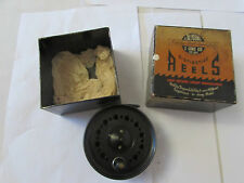 """good vintage jw youngs pridex trout fly fishing reel 3.5"""" wide drum + box ...."""