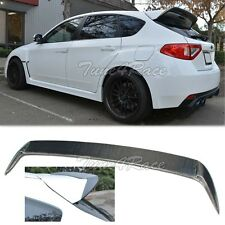 For 08-14 Impreza WRX STI Hatch Carbon fiber Spoiler Add On Wing Body Kit Wagon