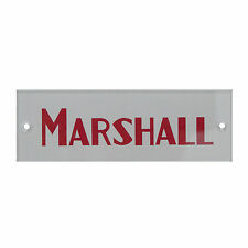 MARSHALL LOGO FOR MARSHALl AMP/PLEXI Silver/red. Screws included. MARSHALL.