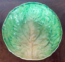 Antique 19th c. Continental Pottery Cabbage Lettuce Leaf Bowl Plate Napoli