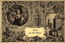 Feldpostkarte 1. WK Gruss aus dem Elsass Alsace Feldpost gelaufen n. Kavelstorf