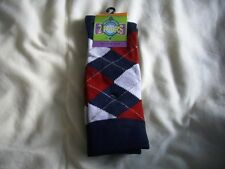 Mens Argyle socks, twin packs