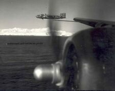 "B-25 Mitchell Bomber in flight over the ocean 8""x 10"" World War II Photo #113"