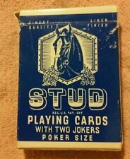 STUD Playing Cards Poker size Blue Deerfield Illinois  Rare 4 jokers L6217