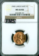 1960 L.D. LINCOLN CENT NGC MAC MS66 FMS 2ND FINEST FULL MEMORIAL STEPS