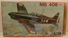 SMER Plastic Model Kit Military Plane MS 406 Morane Saulnier 1:72 Scale